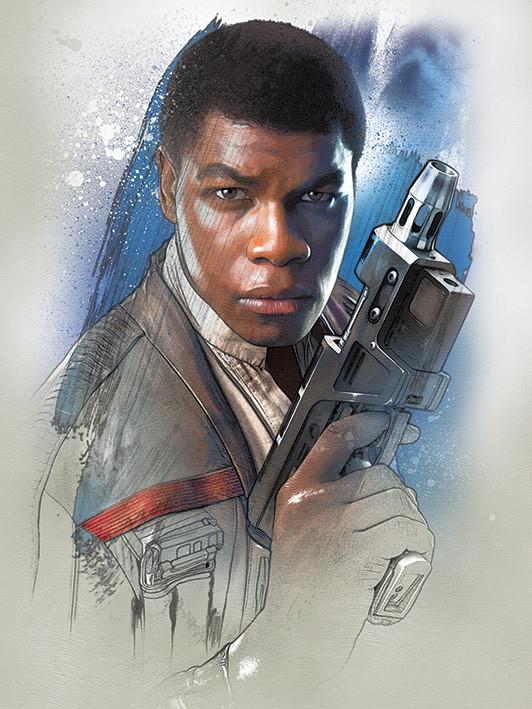 Canvas Print Star Wars The Last Jedi - Finn Brushstroke