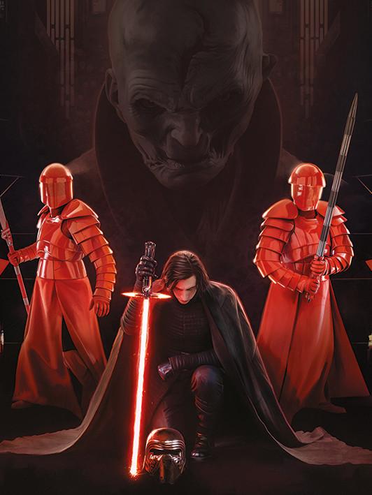 Canvas Print Star Wars The Last Jedi - Kylo Ren Kneel
