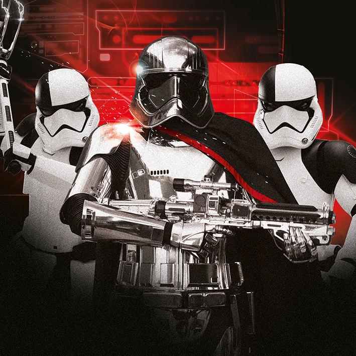Canvas Print Star Wars The Last Jedi - Trooper Team