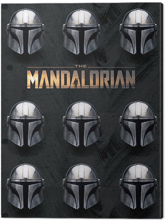 Canvas Print Star Wars: The Mandalorian - Helmets