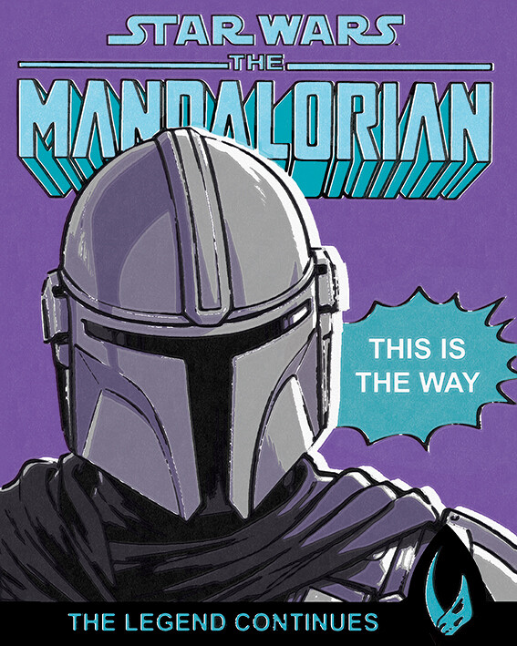 Canvas Print Star Wars: The Mandalorian - This Is The Way