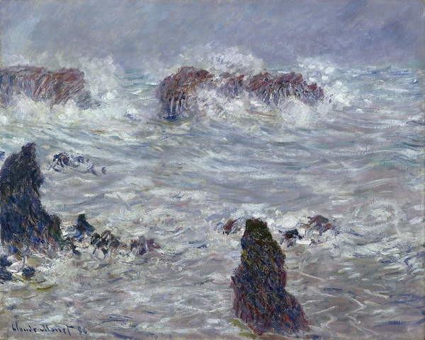 Canvas Print Storm, off the Coast of Belle-Ile, 1886
