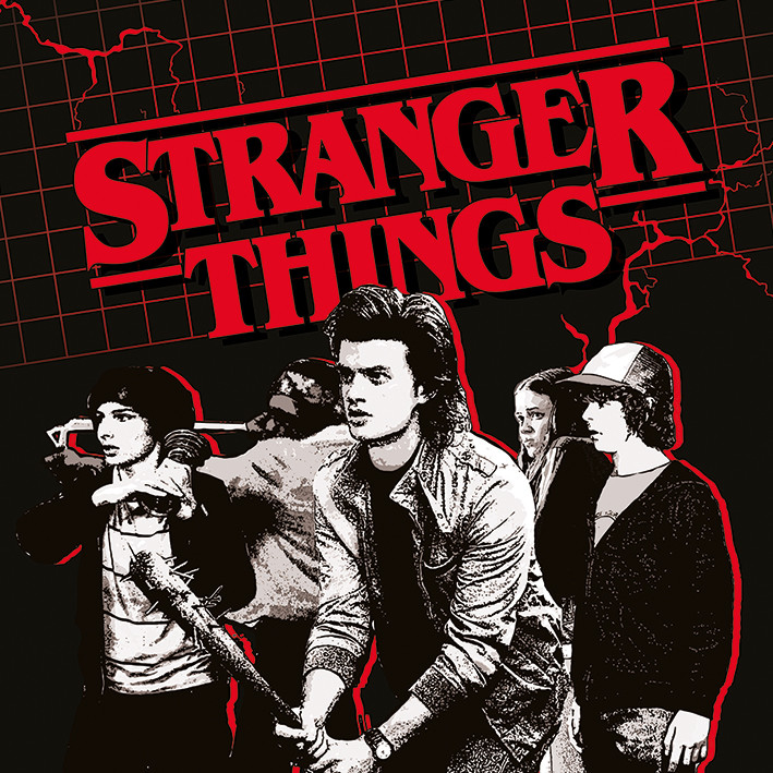Canvas Print Stranger Things - Action Ready