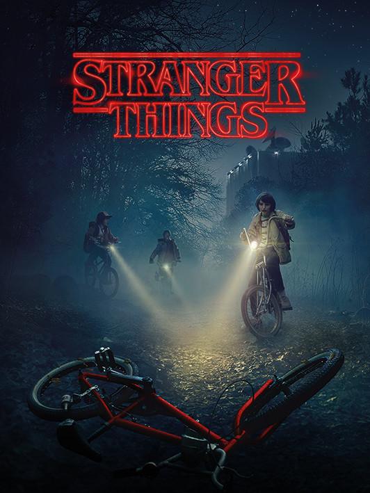 Canvas Print Stranger Things - Bike
