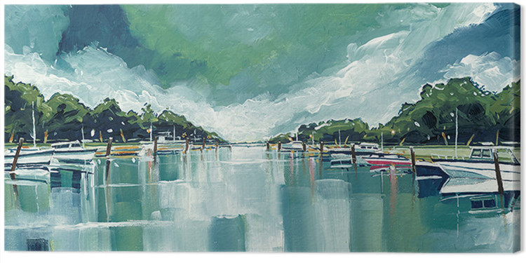 Canvas Print Stuart Roy - River Mornings and Angry Clouds