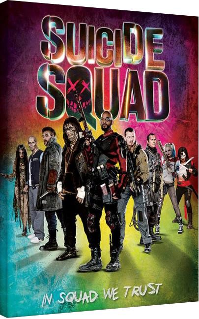 Canvas Print Suicide Squad - Neon