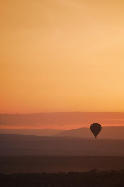 Sunset balloon ride Canvas Print