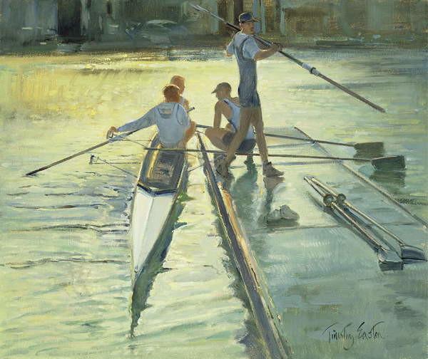 Canvas Print Sunset Raft