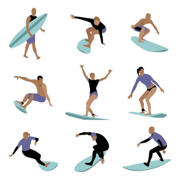 Canvas Print Surfers