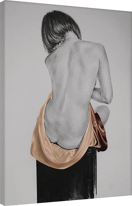 Canvas Print T. Good - Silk In Mocha