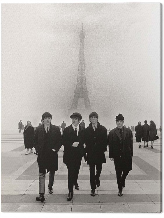 Canvas Print The Beatles - Paris
