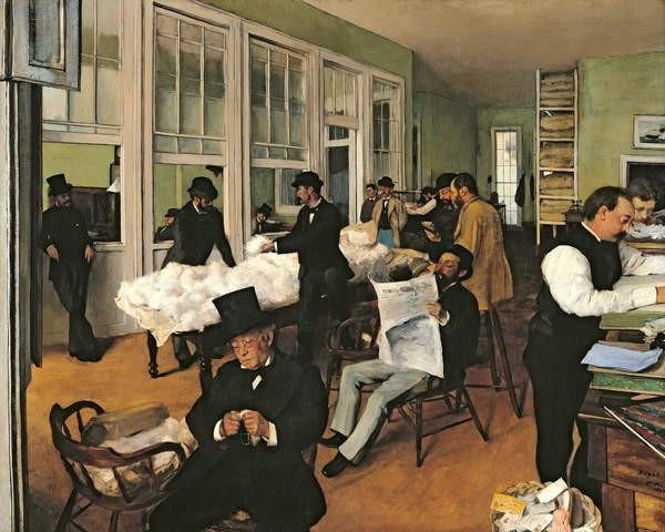 Canvas Print The Cotton Exchange, New Orleans, 1873