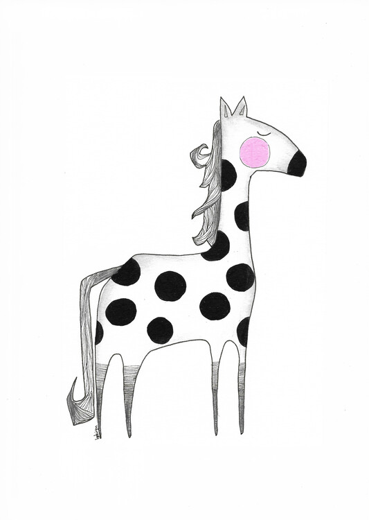 Canvas Print The dotted Horse