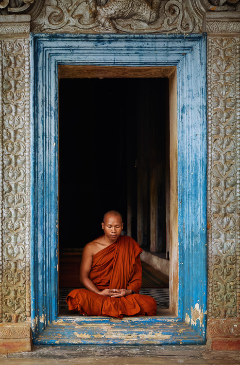 Canvas Print The Monks of Wat Bo