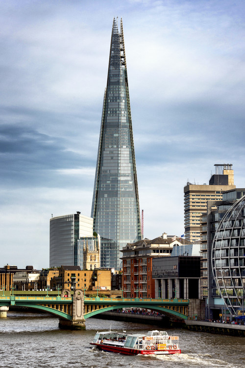 The Shard Building and The River Thames Canvas Print