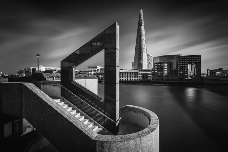 Canvas Print The Shard in Geometry