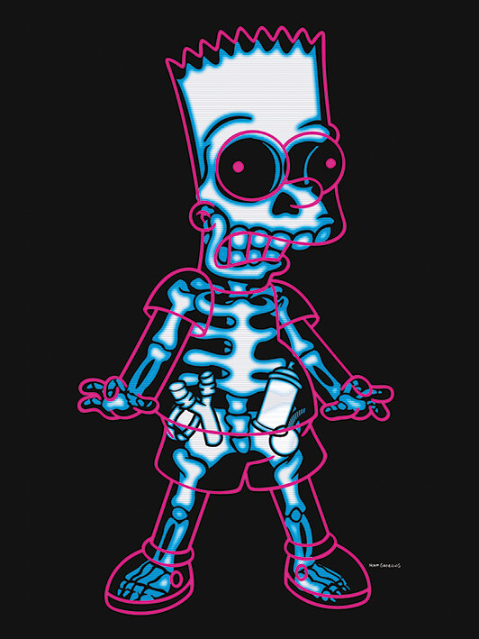 Canvas Print The Simpsons - X-Ray Bart