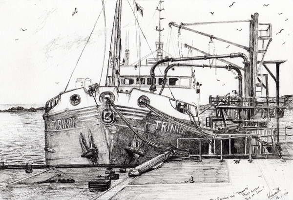 Canvas Print The Trinity port Ellen Isle of Islay, 2007,