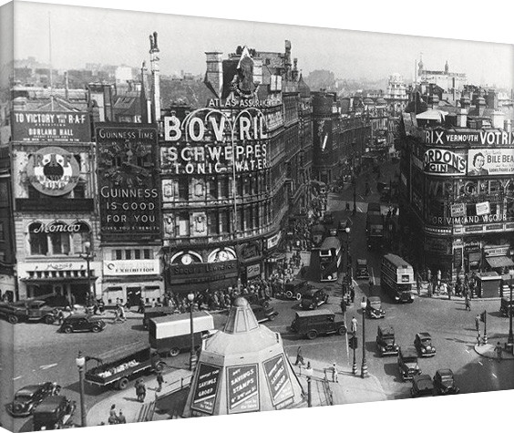 Canvas Print Time Life - Piccadilly Circus, London 1942
