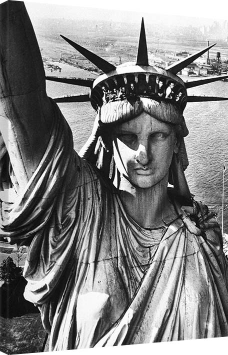 Canvas Print Time Life - Statue of Liberty