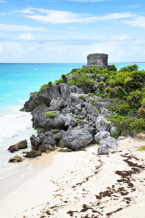 Canvas Print Tulum Ruins along Caribbean Coastline