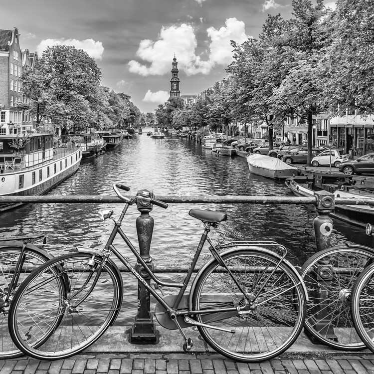 Canvas Print Typical Amsterdam | Monochrome