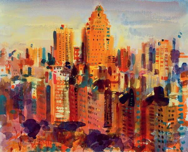 Canvas Print Upper Manhattan, 2000