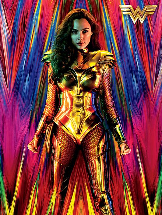 Canvas Print Wonder Woman 1984 - Neon Static