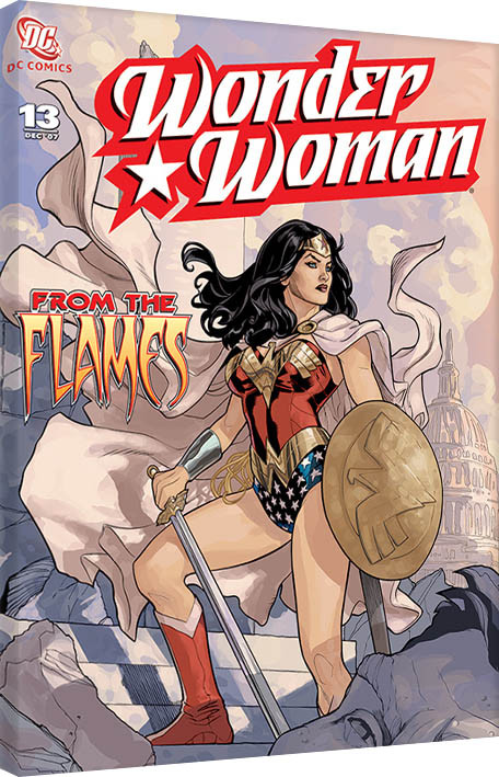 Canvas Print Wonder Woman - From The Flames