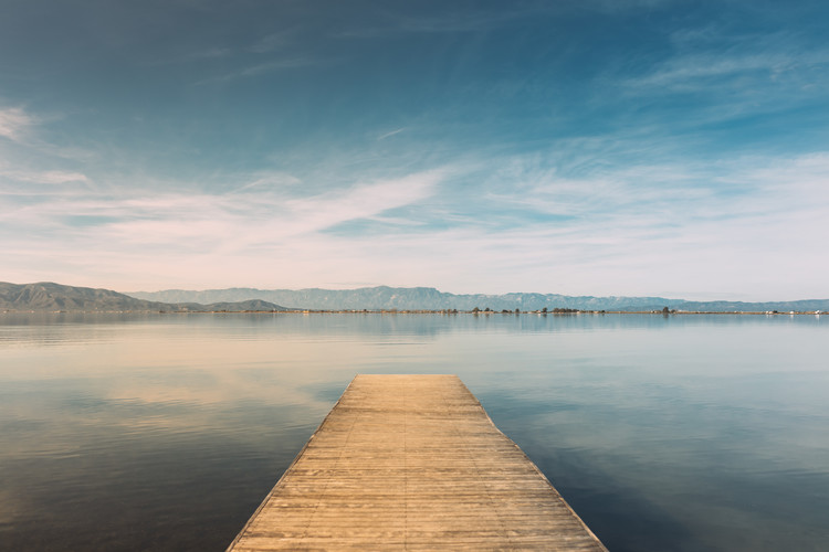 Canvas Print Wood pier at sunset