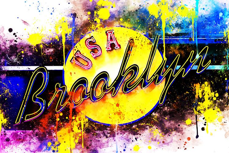 Canvas Print Yellow Brooklyn