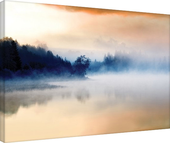 Andreas Stridsberg - Hazy Lake Canvas Print