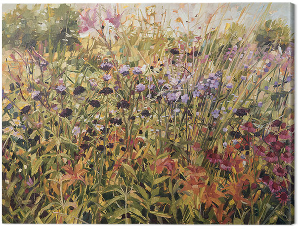 Anne-Marie Butlin - Field with Lillies Canvas Print