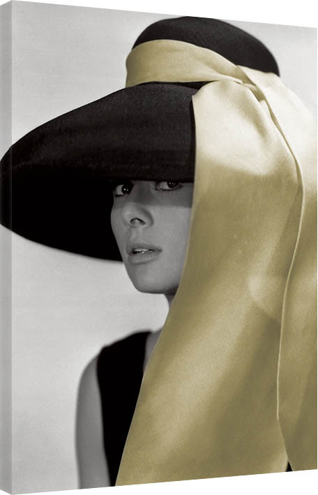 Audrey Hepburn - Hat Canvas Print