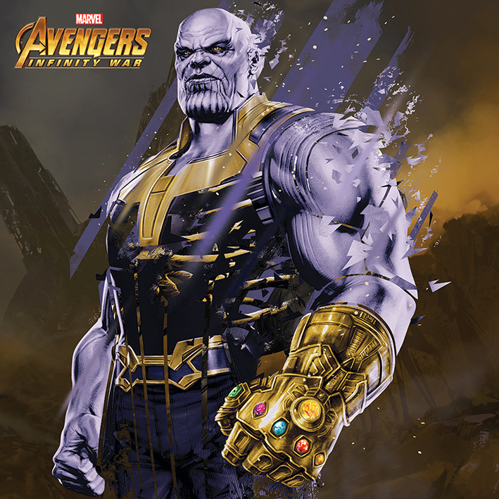 Avengers Infinity War - Thanos Fragmented Canvas Print
