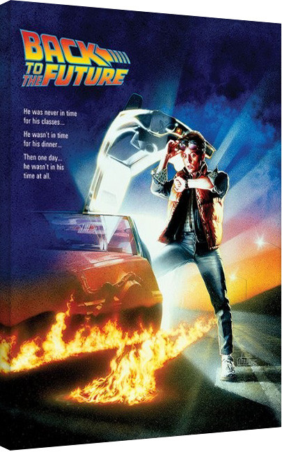 Back To The Future - One Sheet Canvas Print