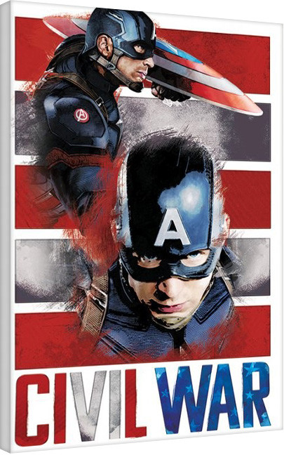 Captain America Civil War - Split Canvas Print