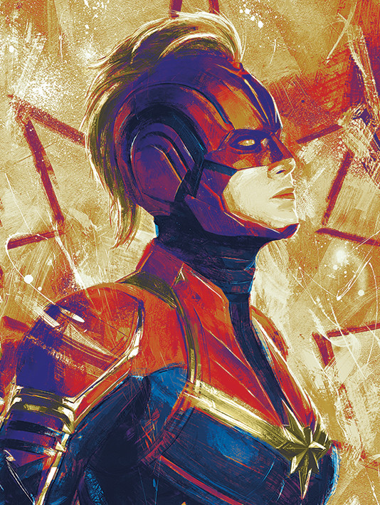 Captain Marvel - Paint Canvas Print