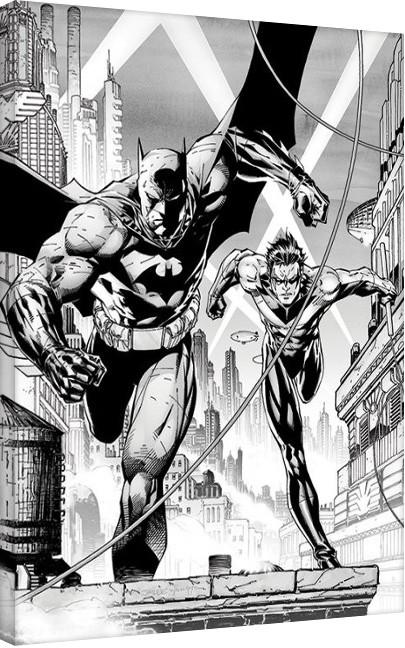 DC Comics - Batman & Nightwing Canvas Print