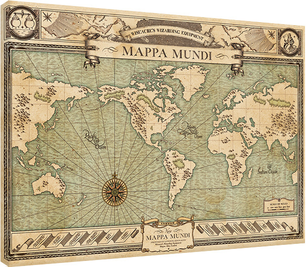c712ee6077 Canvas Print Fantastic Beasts And Where To Find Them - Mappa Mundi ...