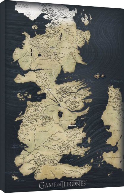 Game of Thrones - Map Canvas Print