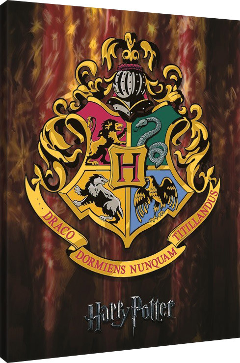 Harry Potter - Hogwarts Crest Canvas Print