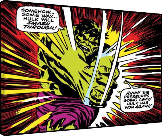 Hulk - Smash Through Canvas Print