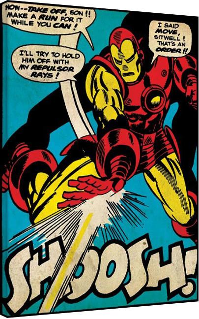 Iron Man - Shoosh Canvas Print