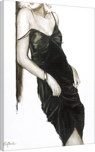 Janel Eleftherakis - Little Black Dress I Canvas Print