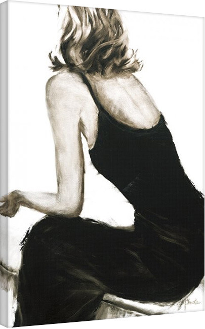Janel Eleftherakis - Little Black Dress II Canvas Print
