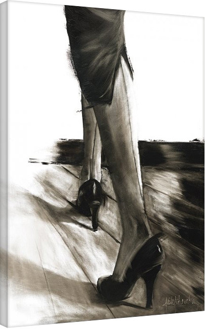 Janel Eleftherakis - Little Black Dress IV Canvas Print