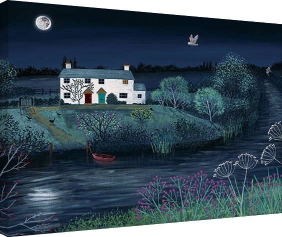 Jo Grundy - Moon River Canvas Print
