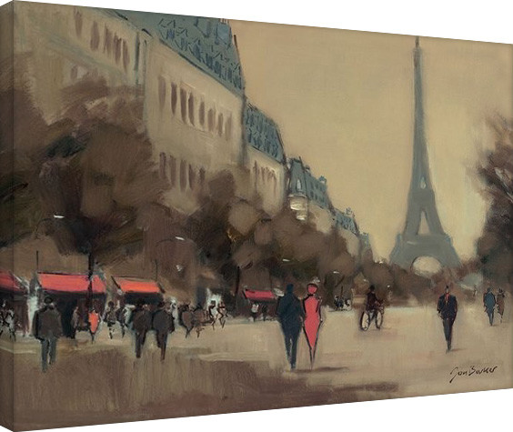 Jon Barker - Time Out in Paris Canvas Print