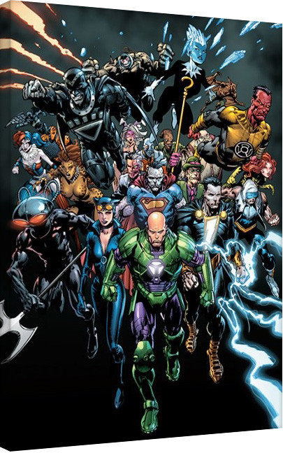 Justice League - Group Cover Canvas Print